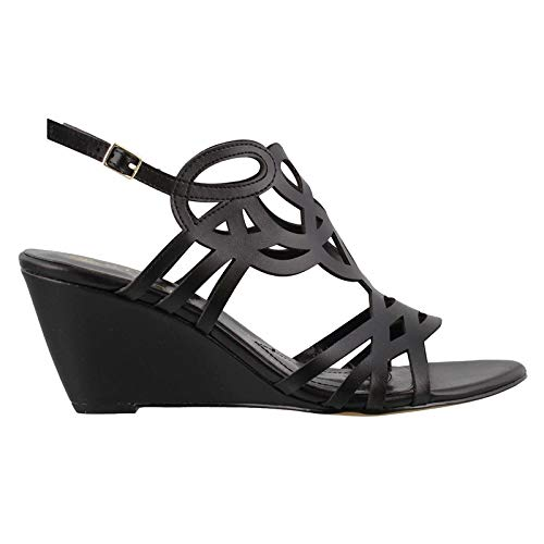 STUDIO ISOLA Women's, Florin Wedge Sandals Black 10 M