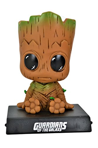 Guardians Of The Galaxy Cute Groot PVC Bobblehead Figure Car Accessories Dashboard Cell Phone/Credit Card Holder Office Home Ultra Detail Doll . (Pvc Head)