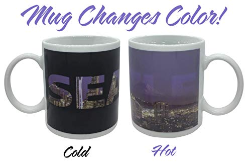 Seattle Skyline Color Changing Coffee Mug