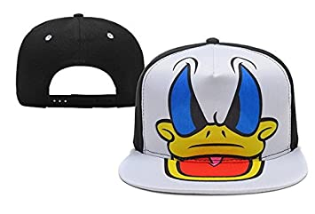 ab51babf50d Image Unavailable. Image not available for. Colour  Disney Adjustable Donald  Duck Snapback Hats Caps