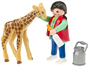 Amazon Com Playmobil Baby Giraffe With Zookeeper Toys