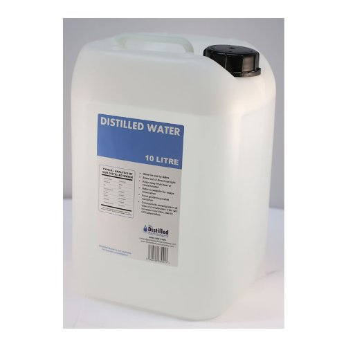 Distilled Water Container. 10 Litre Container Of Purified Water. Medical Grade Distilled Water