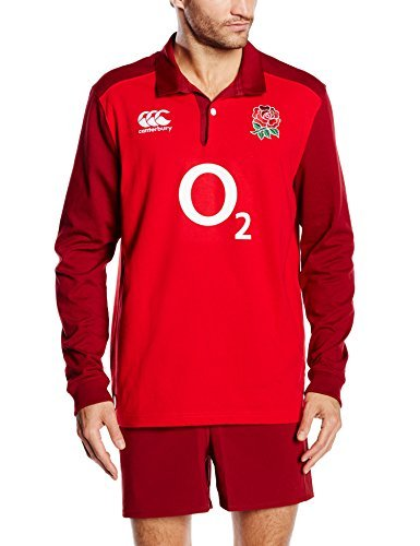 Canterbury Men's England Alternate Classic Long Sleeve Rugby Jersey - Red, X-Large by Canterbury ()