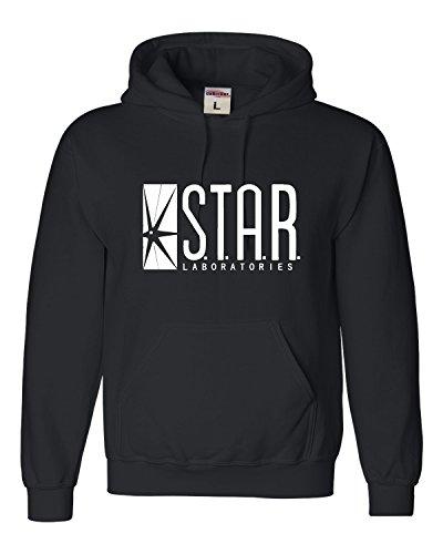 Small Black Adult Star Labs Sweatshirt Hoodie ()