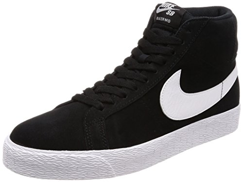 NIKE Men's SB Zoom Blazer Mid Black/White/White Skate Shoe 11 Men (Mens Nike Sb)