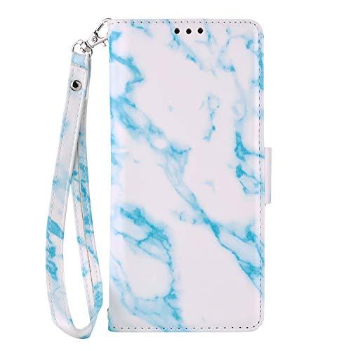 Samsung Note 9케이스,Galaxy Note 9케이스 커버,SevenPanda 지갑 PU레더 리무버블 마블 디자인 마그넷 flip2(케이스 스탠드 부착,크레디트 카드 슬롯 홀더 부착)