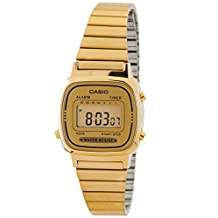 Casio Women's Illuminator LA670WGA9 Gold Stainless-Steel Quartz Watch with Digital Dial