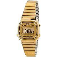 Women's LA670WGA-9 Gold Stainless-Steel Quartz Watch with Digital Dial
