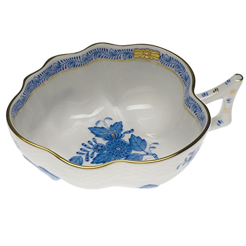 (Herend Chinese Bouquet Blue Deep Leaf Dish)