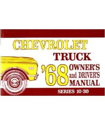 (1968 CHEVROLET TRUCK Full Line Owners Manual User Guide)