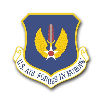 US Air Force in Europe Command Vinyl Transfer Decal Military Veteran Served Window Bumper Sticker Vinyl Decal 3.8