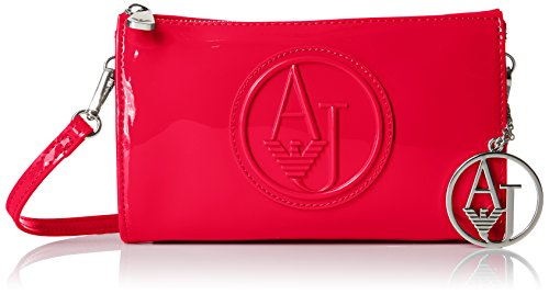 Armani Jeans Eco Patent Crossbody Clutch Bag Wallet, Tango Red, One Size by ARMANI JEANS