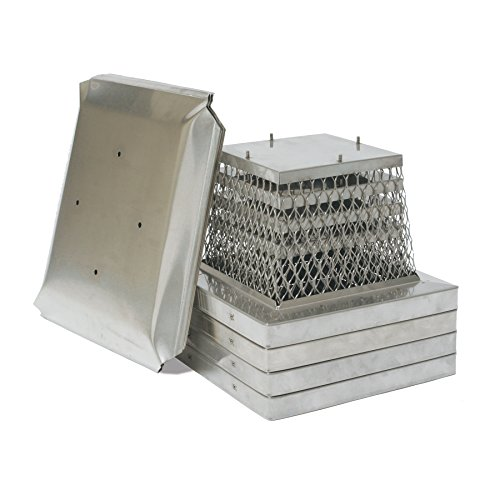 HY-C MPSS918 Stainless Steel Stackable Multi-Pack Single Flue Chimney Covers (4 Pack), 9