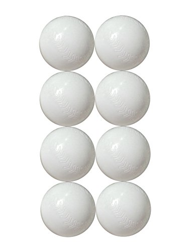Kidwerkz Pop and Play Replacement Plastic Baseball Balls (8 pack) with ball bag