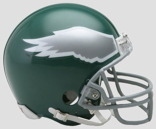 Riddell Philadelphia Eagles THROWBACK Helmet NFL Football 1974-95 Mini (Nfl Throwback Football Helmet)