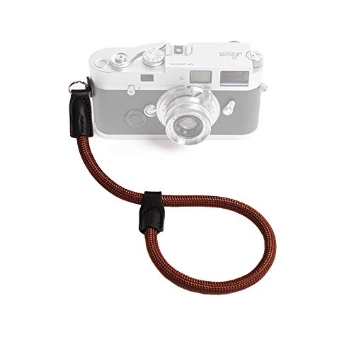 Cam-in Outdoor Series High Strength Climbing Rope Camera Wrist Band Suitable for Round Hole Interface Cameras (Coffee)