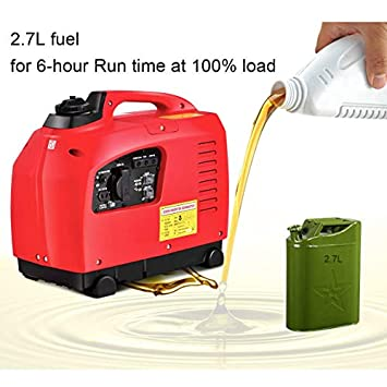 Goplus Gas-Powered Inverter Generator Portable Digital 4 Stroke 53cc Single Cylinder CE, GS, CARB EPA Compliant 1250W