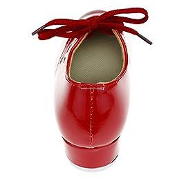 Child PU Slip on Tap Dance Shoes,Red,Big Kid,5M US