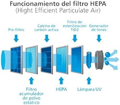 Purificador de Aire Premium con Filtro True HEPA para la eliminación de alérgenos y contaminación Ambiental: Amazon.es: Hogar