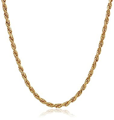 Sterling Silver Diamond-Cut Rope Chain Necklace