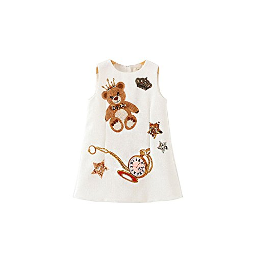 Viking Costume Walmart (Huaqiang fashion Girls Dresses Winter NEW Brand Children Dress Princess Costume Mode Enfant Bear Print Pattern Kids Dresses for Girls Clothes as picture 4T)