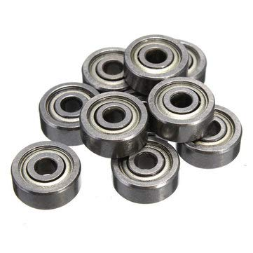 10pcs 623ZZ 3x10x4mm Bearings Shielded Radial Bearing - 10 x Ball Bearings More Details: - Machinery Parts Ball Bearing