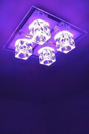 Plafoniera LED con cambia colore e telecomando Lampada da soffitto ...