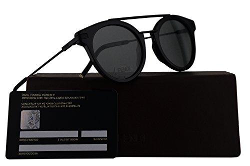 Fendi FF0225/S Sunglasses Black w/Green Lens 49mm 807QT FF0225S FF 0225S FF - Sale Sunglasses Fendi