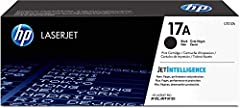 HP 17A (CF217A) Black Toner Cartridge for HP LaserJet Pro M102 M130. HP 17A (CF217A) toner cartridges work with: HP LaserJet Pro M102, M130. Original HP toner cartridges produce an average of 71% more usable pages than non-HP cartridges. Cart...