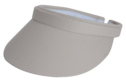 TopHeadwear Sports Cotton Twill Clip-On Visor - Putty