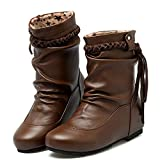 Clearance for Shoes,AIMTOPPY Women's Shoes Tassel Soft Non-Skid Middle Slope Heel Braided Belt Boots