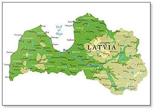 Pysical Map Of France Amazon.com: Latvia Physical Map Classic Fridge Magnet: Kitchen