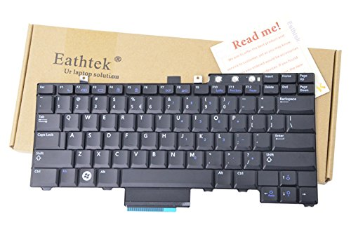 (Eathtek Replacement Keyboard without Trackpoint and Buttons for Dell Latitude E5300 E5400 E5500 E5410 E5510 series Black US Layout, Compatible with part number FM753 0FM753 FNGF0 0FNGF0)