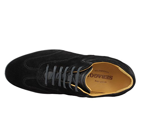Sebago B160210 - Alpargatas Para Hombre, Color Black Suede, Talla 43