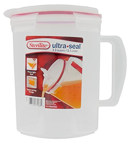 Sterilite 03706606 2.2 Quart Ultra Seal Pitcher ()