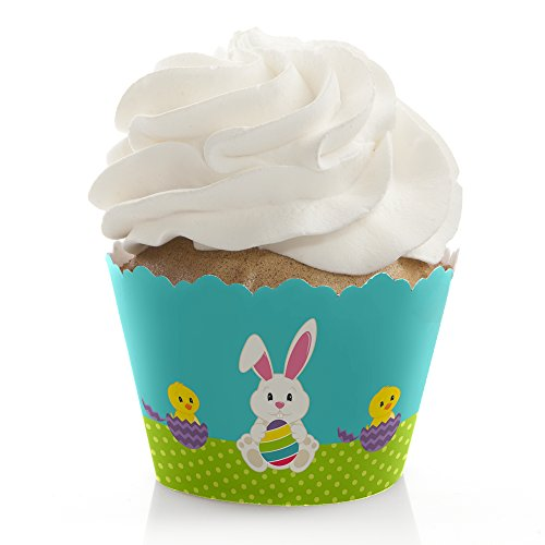 Hippity Hoppity - Easter Bunny Party Decorations - Party Cupcake Wrappers - Set of -
