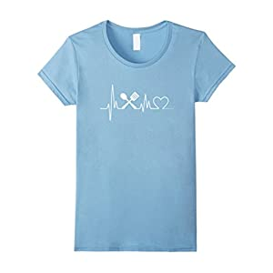 Womens Cooking Heartbeat T-Shirt - Cooking T-Shirt Small Baby Blue