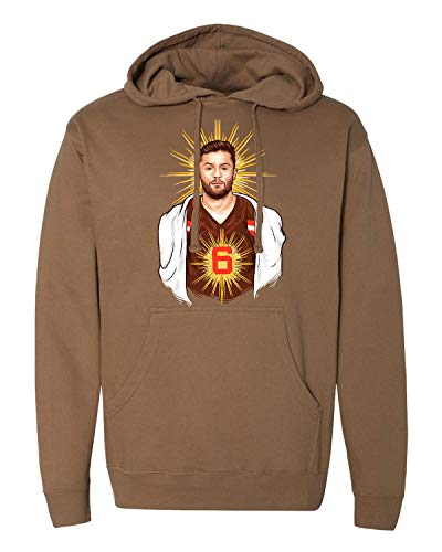 LivingTees Baker Mayfield Savior Cleveland Football Adult Hoodie Sweatshirt // Perfect for The Dog Pound!