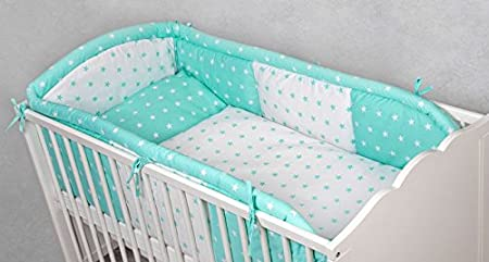 Literie de bébé SET OWL 3tlg- Bed Série 135/100 XXL BABY COT 140/70 cm, linge de lit, tour de lit, - différentes couleurs (orange)