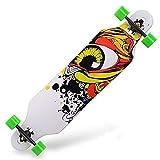 Highway Skateboarding Boys and Girls Skateboard High-Elastic PU Wheel Skateboard Skill Skateboard (Color : G)
