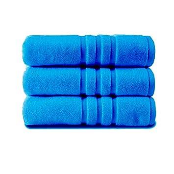 Z&T - Juego de 3 Toallas de baño (100% algodón Egipcio, 85 x