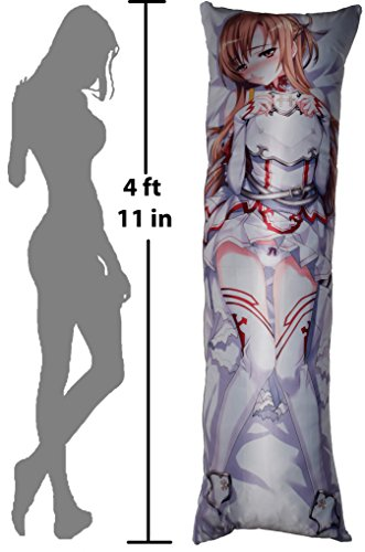 GB Arts Sword Art Online Asuna Unequipped Peach Skin 150cm x 50cm High Quality Pillowcase