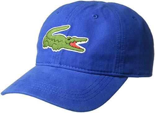 Lacoste Mens Big Croc' Gabardine Cap, Electric, ONE (Lacoste Hats For Men)