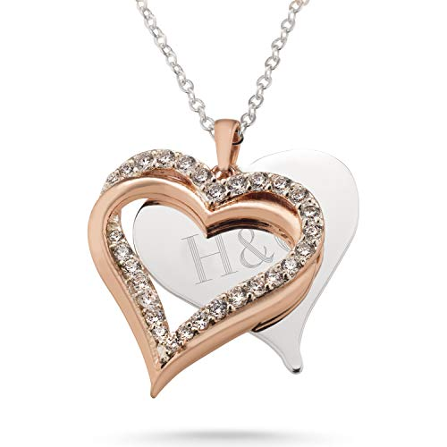 Personalized Initial Locket - Things Remembered Personalized Rose Gold Intertwined Heart Swing Necklace with Engraving Included