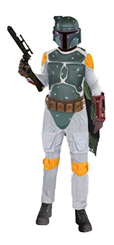 [Rubies Mens Boba Fett Deluxe Star Wars Jumpsuit Attire Fancy Costume, Standard (36-44)] (Boba Fett Costume Cheap)