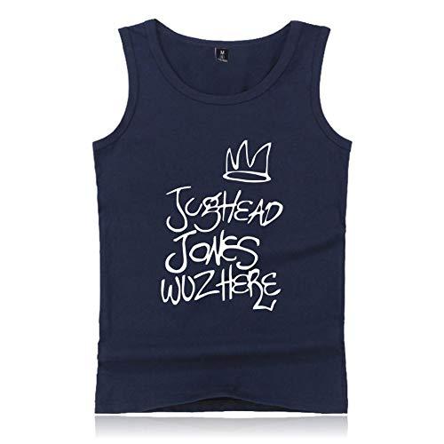 Débarateur Riverdale Blouses Manches Pour Rond T Classiques Et shirt Femme Col Bleu Imprimé Side South Top Sans D'été Homme Tee Serpents fqCdwqg
