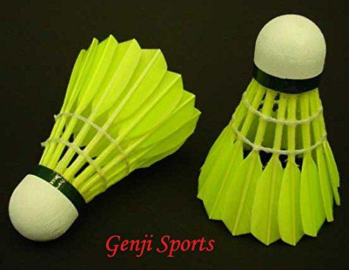 Genji Sports Yellow Goose Feather Shuttlecock (12 pcs)