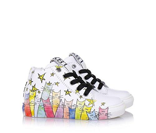b3f0aad330d8b8 ... BE KOOL - Weißer Schuh Cats Baby mit Schnürsenkeln aus Leder