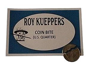 ATHOMASS Anna Bite Out Quarter Magic Trick with Coins, Silver