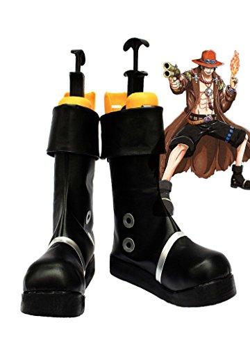 Un Pezzo Anime Anime Portgas D Asso Scarpe Cosplay Stivali Su Misura